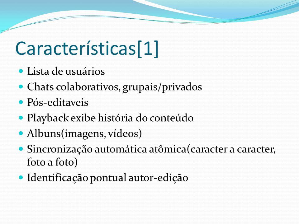Características[1] Lista de usuários